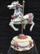 Heritage House Carousel Horse Music Box Figurin... - $19.79