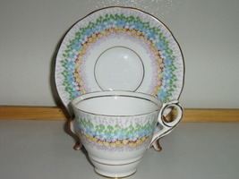 "Vintage Royal Stafford English Bone China Cup & Saucer - ""Glendale"" Pattern - $20.00"