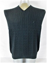 NAUTICA MENS  Large  BLACK COTTON V NECK SWEATER VEST (K) - $29.77