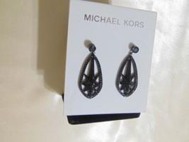 """Michael Kors  1- 5/8"""" BlackTone Jet Stone Pave Starburst Drop Earrings R... - $36.68"""