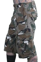 LRG Hombre Caqui Lobo Camuflaje Unnatural Paleta Cargo Pantalones Cortos 28 image 2