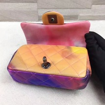 AUTHNTIC CHANEL LIMITED EDITION LAMBSKIN QUIILTED MINI FLOWER POWER FLAP BAG image 13