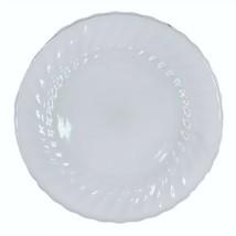 """Vtg ANCHOR HOCKING White Milk Glass Swirl w/ Gold Trim 10"""" Dinner Plate ... - $9.79"""