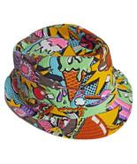 Carnival Fedora Hat Colorful Cap Multi Color Fun PartyHot Dogs Popcorn I... - $9.89