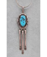 Vintage Sterling Silver & Turquoise Necklace - Jewelry - $99.00