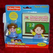 Fisher Price Little People Numbers with Teacher Terry book and figure - $10.00