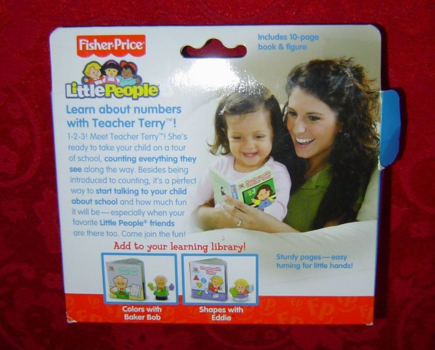Fisher Price Little People Numbers with Teacher Terry book and figure