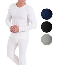 Men's Cotton Waffle Knit Thermal Underwear Stretch Shirt & Pants 2pc Set