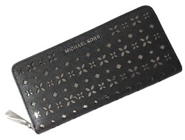 MICHAEL KORS Jet Set Travel Perforated-Leather Continental Wallet - $118.80