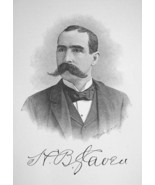 HENRY SLAVEN Canada Born Capitalist Panama Canal Builder - 1895 Portrait... - $8.82