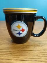 Pittsburgh STEELERS Coffee Cup Mug Boelter NFL Black Yellow Microwave 2016 - $13.37