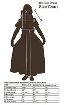 RG Costumes Colonial Peasant Girl, Child Medium/Size 8-10 - $24.95