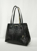 NWT Brahmin Medium Julian Embossed Leather Tote/Shoulder Bag in Black Me... - $279.00