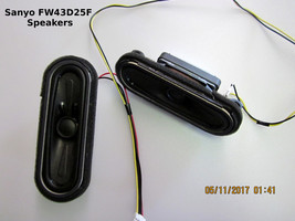 Sanyo Hdtv FW43D25F Pn: S0310F15 Speakers With Wiring - $11.30