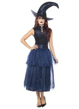 Deluxe Midnight Witch Costume, Halloween Adult Fancy Dress. UK Size 8-10 - $52.58