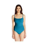 La Blanca Island Goddess Rouched Lingerie Mio One Piece Swimsuit, Marina, 2 - $46.92
