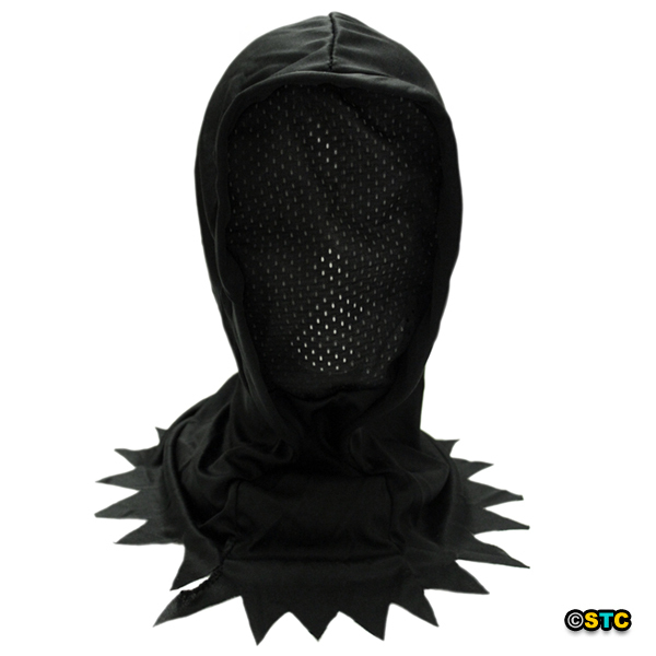 Child Black Hidden Face Mask Hood ~ Halloween Kids Horror Costume Accessory