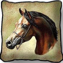 "17"" Large ARABIAN HORSE Tapestry Pillow Cushion  - $32.50"