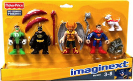 Imaginext DC Super Friends Heroes Set - Batman Superman G Lantern Hawkma... - $31.87