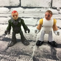 "Fisher Price Imaginext Replacement Figures Lot Of 2 2.5"" Men White & Gre... - $7.91"