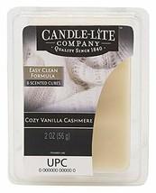 Candle-lite - Duftwachswürfel, Cozy Vanilla Cashmere 56g, Weiß, 7.5 x 10... - $9.12