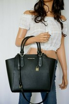 NWT MICHAEL KORS HAYES LARGE PBBLED LEATHER TOTE SHOULDER BAG BLACK - $107.90