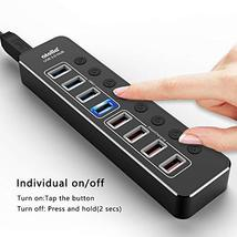 Powered USB Hub 3.0, atolla Aluminum 8-Port USB Hub with 4 USB 3.0 Data Ports an image 5