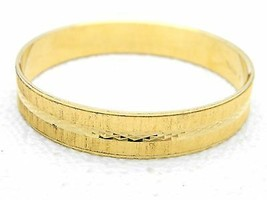 VTG CROWN TRIFARI Signed 1950's Modern Gold Tone Bangle Bracelet Size M - $34.65
