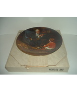 Edwin Knowles Norman Rockwell The Tycoon plate with box - $18.99