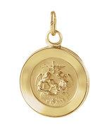 14K Yellow Gold Round Baptismal Pendant Medal - $152.99+