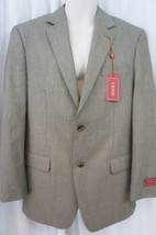Izod Mens Blazer Sz 38R Regular Tan Multi Color Two Button Business Suit... - $89.08