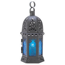 Ocean Blue Candle Lantern - $18.00