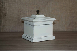 Ivory Jewelry Box, SHABBY CHIC Jewelry Box, Ring Box, Jewelry Storage, J... - €25,91 EUR