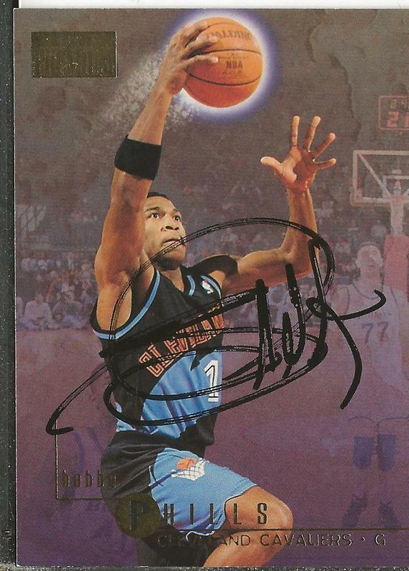 Bobby Phills 1996 Skybox Autograph #23 Cavaliers Southern