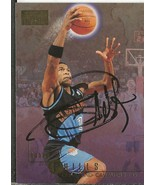 Bobby Phills 1996 Skybox Autograph #23 Cavaliers Southern - $55.98