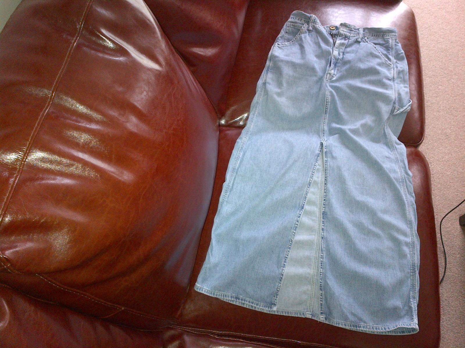 Replay light distressed denim long skirt size 27 - $95.00