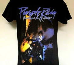 Prince and the Revolution Purple Rain T Shirt Mens Small 100% Cotton Black - $23.71
