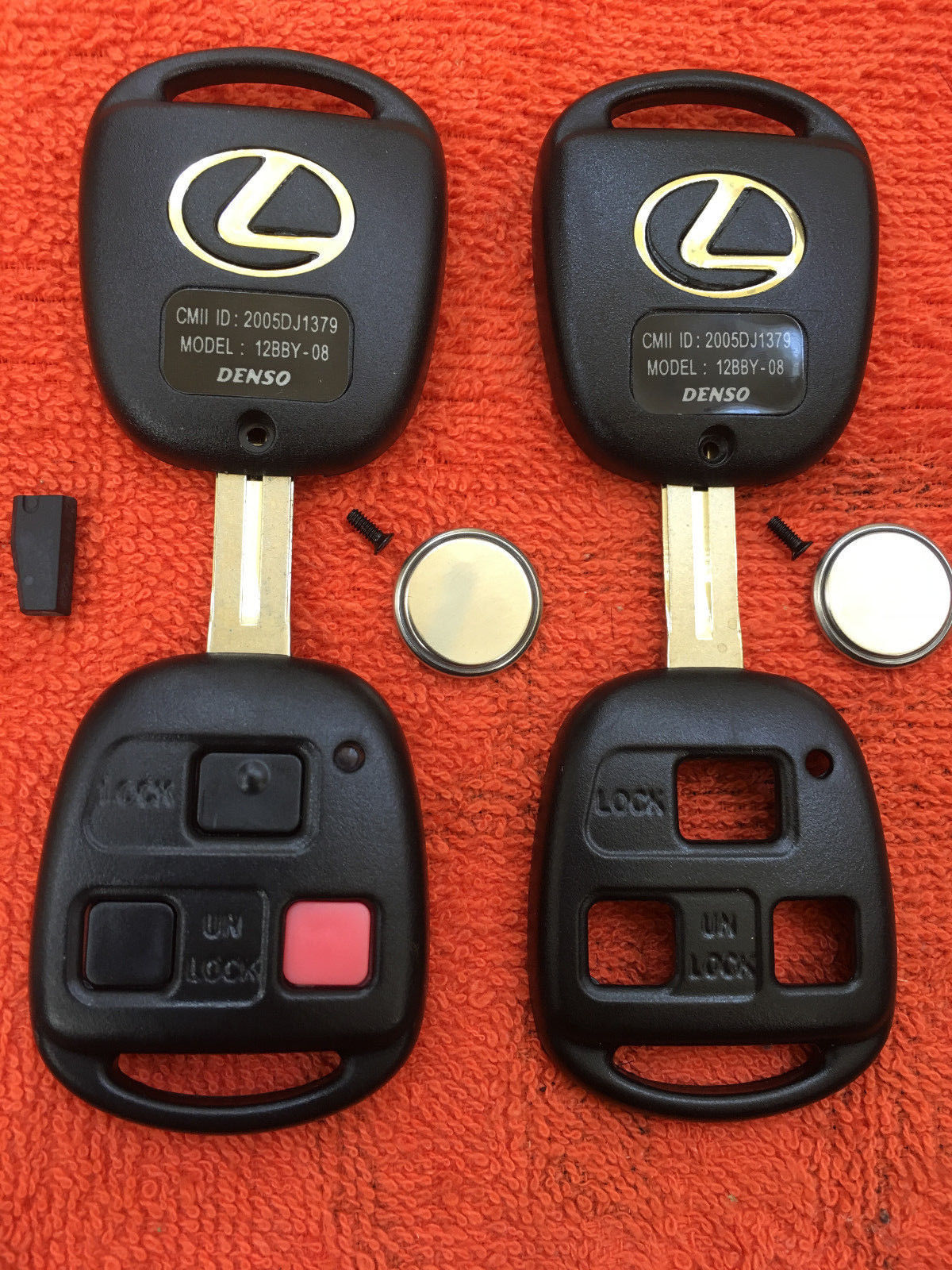Convertible Remote Key Keyless 2 With OEM Factory Electronics For Toyota Camry