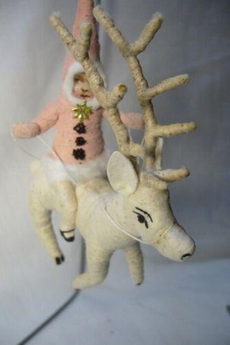 Vintage Inspired Spun Cotton, Reindeer Rider , no. 102