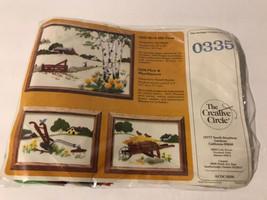 The Creative Circle Birch Hill Farm 12x16 & Wheelbarrow  Needlepoint  #0... - $15.69