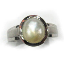 5.5ct ring natural certified pearl 925 silver engagement wedding band fo... - $25.00