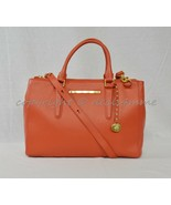 NWT Brahmin Small Lincoln Leather Satchel/Shoulder Bag Coral Nepal Soft ... - $249.00