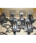 6 New Duke # 2 OFFSET Coil Spring Traps  Raccoon Beaver Fox Coyote Trapp... - $54.79