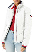 Tommy Hilfiger Women's Short Chevron Quilted Heritage Puffer Jacket