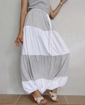 SALE Drop Crotch Gypsy Long Pants Ruffle Casual Gypsy Bohemian Cotton Bl... - $49.00