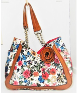 Large Pink and Blue Floral Summertime Purse - $7.50