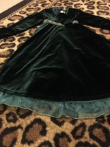 Sophie Rose Girl's Velvet Dress Holiday Special Occasion Sz 6/6 Green Ch... - $40.92