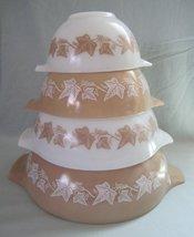 SET OF 4 - Vintage 1960s Pyrex Sandalwood Ivy Cinderella Mixing Nesting Batter B - $138.59