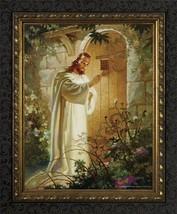 Christ At Heart's Door by Warner Sallman - Dark Ornate Framed Print - $34.95+