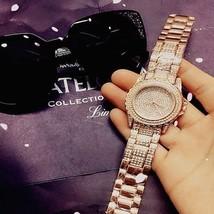 Luxury Look Bracelet Steel Watch Women Fashion Wristwatch Rose Gold Classic image 2
